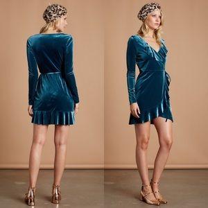 Cotton Candy | Flashing Lights Dress Wrap Velvet S